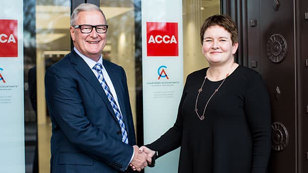 Rick Ellis, Chief Executive of CA ANZ , and Helen Brand OBE, chief executive of the ACCA