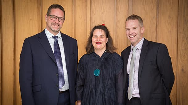 Peter Rupp (Vice President Australia), Jane Stanton (President) and Stephen Walker (Vice President New Zealand)